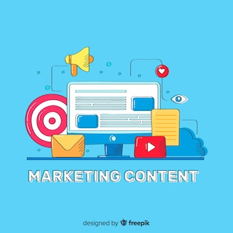 Concetto di contenuto di marketing
