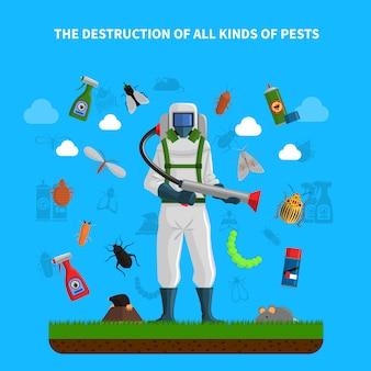 Concetto di controllo dei parassiti