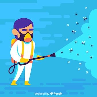 Concetto di controllo della zanzara
