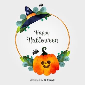 Concetto di cornice dorata di halloween