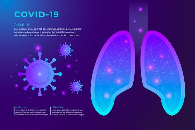 Concetto di coronavirus con polmoni