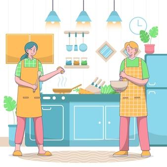 Concetto di cucina persone