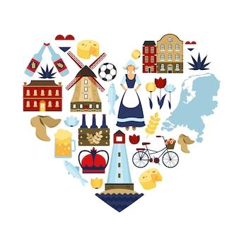 Concetto di cuore olandese