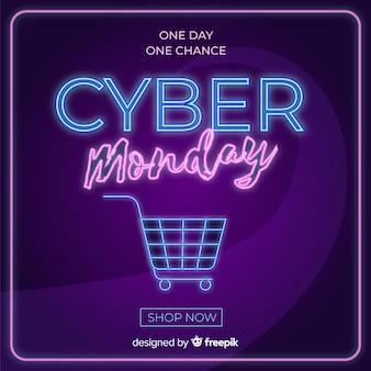Concetto di cyber lunedì in design piatto