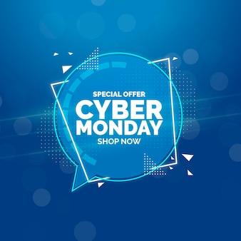 Concetto di cyber lunedì piatto deisgn