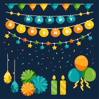 Concetto di decorazione festa di compleanno