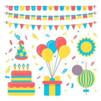 Concetto di decorazione festiva festa di compleanno