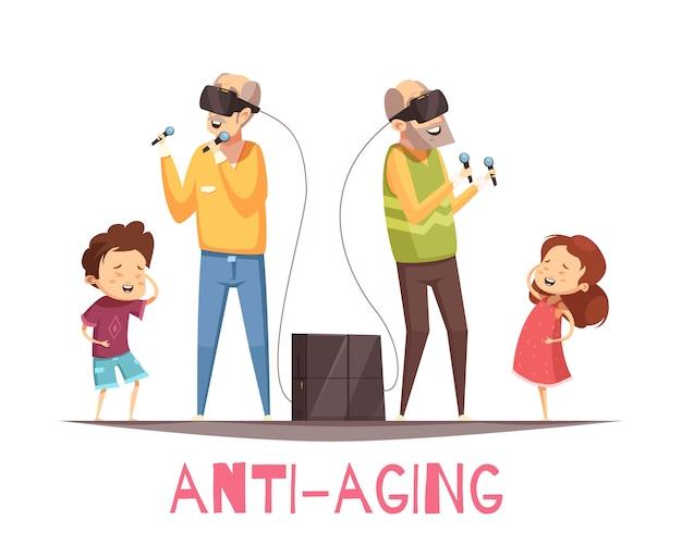 Concetto di design anti invecchiamento