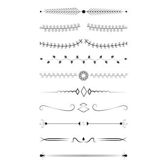 Concetto di design collezione di ornamenti