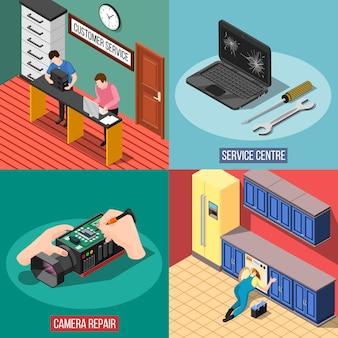 Concetto di design del centro servizi