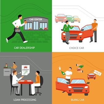 Concetto di design del concessionario auto
