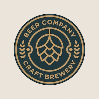 Concetto di design del logo brewery