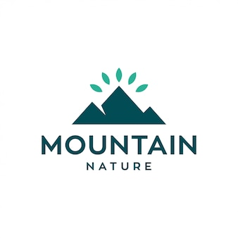 Concetto di design del logo di montagna. logo della natura universale.