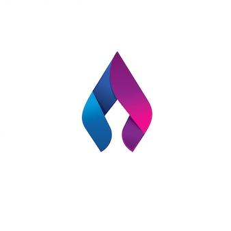 Concetto di design del logo vettoriale fiamma di lancia