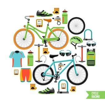 Concetto di design della bicicletta