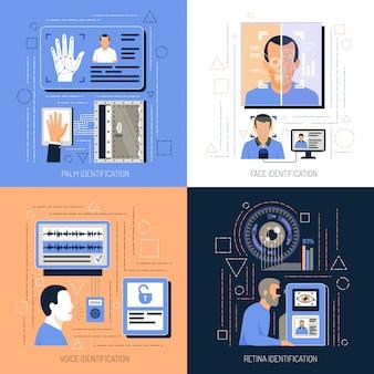 Concetto di design delle tecnologie di identificazione