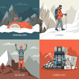 Concetto di design di alpinismo