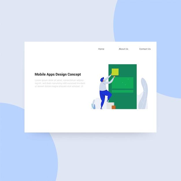 Concetto di design di applicazioni mobili