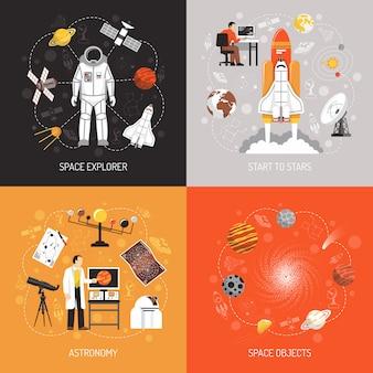Concetto di design di astronomia