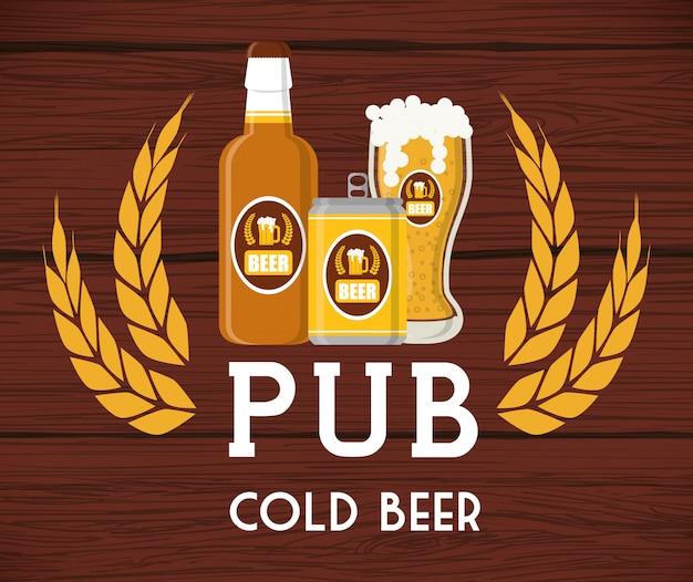 Concetto di design di birra