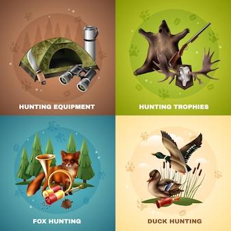 Concetto di design di caccia