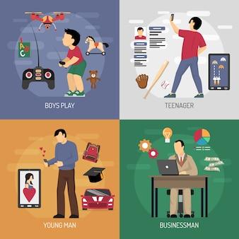 Concetto di design di casi d'uso gadget