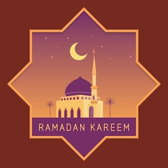 Concetto di design di celebrazione del ramadan