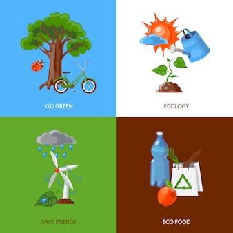 Concetto di design di ecologia
