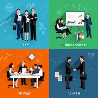 Concetto di design di lavoro di squadra