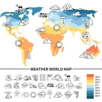 Concetto di design di meteorologia