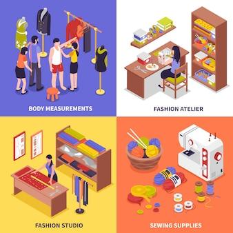 Concetto di design di moda atelier