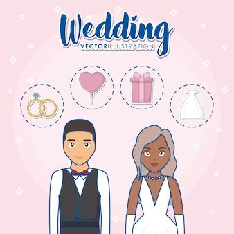 Concetto di design di nozze