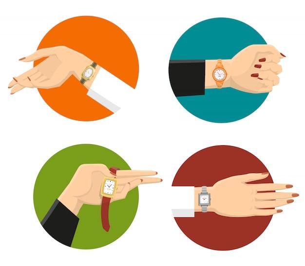 Concetto di design di orologi da polso donne