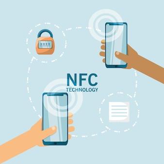 Concetto di design di pagamento nfc