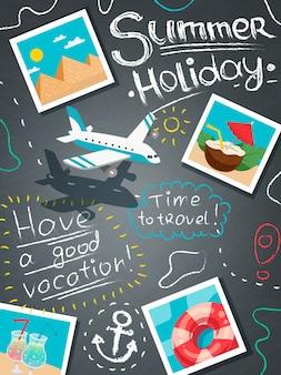 Concetto di design di vacanze estive