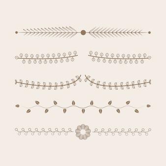 Concetto di design di vettore di raccolta di ornamenti