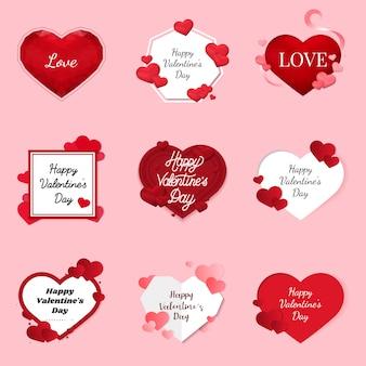 Concetto di design di vettore di san valentino