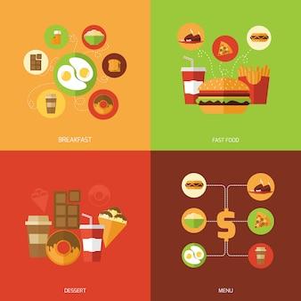 Concetto di design fast food