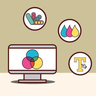Concetto di design grafico