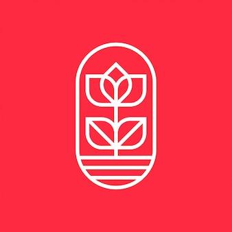 Concetto di design logo fiore design universale dei fiori.