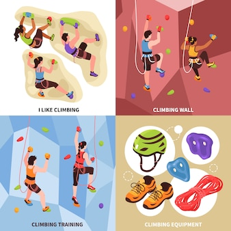 Concetto di design palestra arrampicata