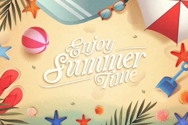 Concetto di design piatto ciao estate