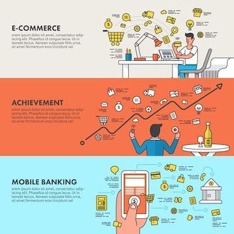 Concetto di design piatto di marketing digitale