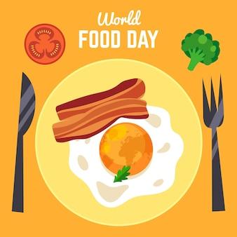 Concetto di design piatto giornata mondiale dell'alimentazione