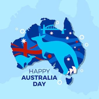 Concetto di design piatto giorno australia