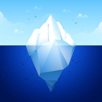 Concetto di design piatto iceberg