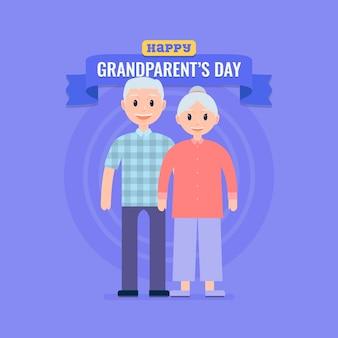 Concetto di design piatto nazionale giorno dei nonni