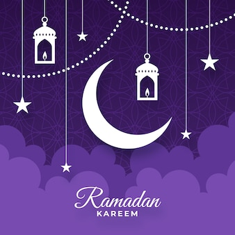 Concetto di design piatto ramadan