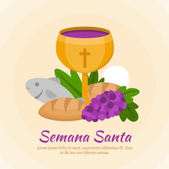 Concetto di design piatto semana santa