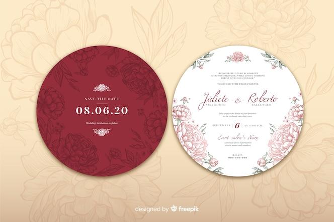Concetto di design semplice per invito a nozze